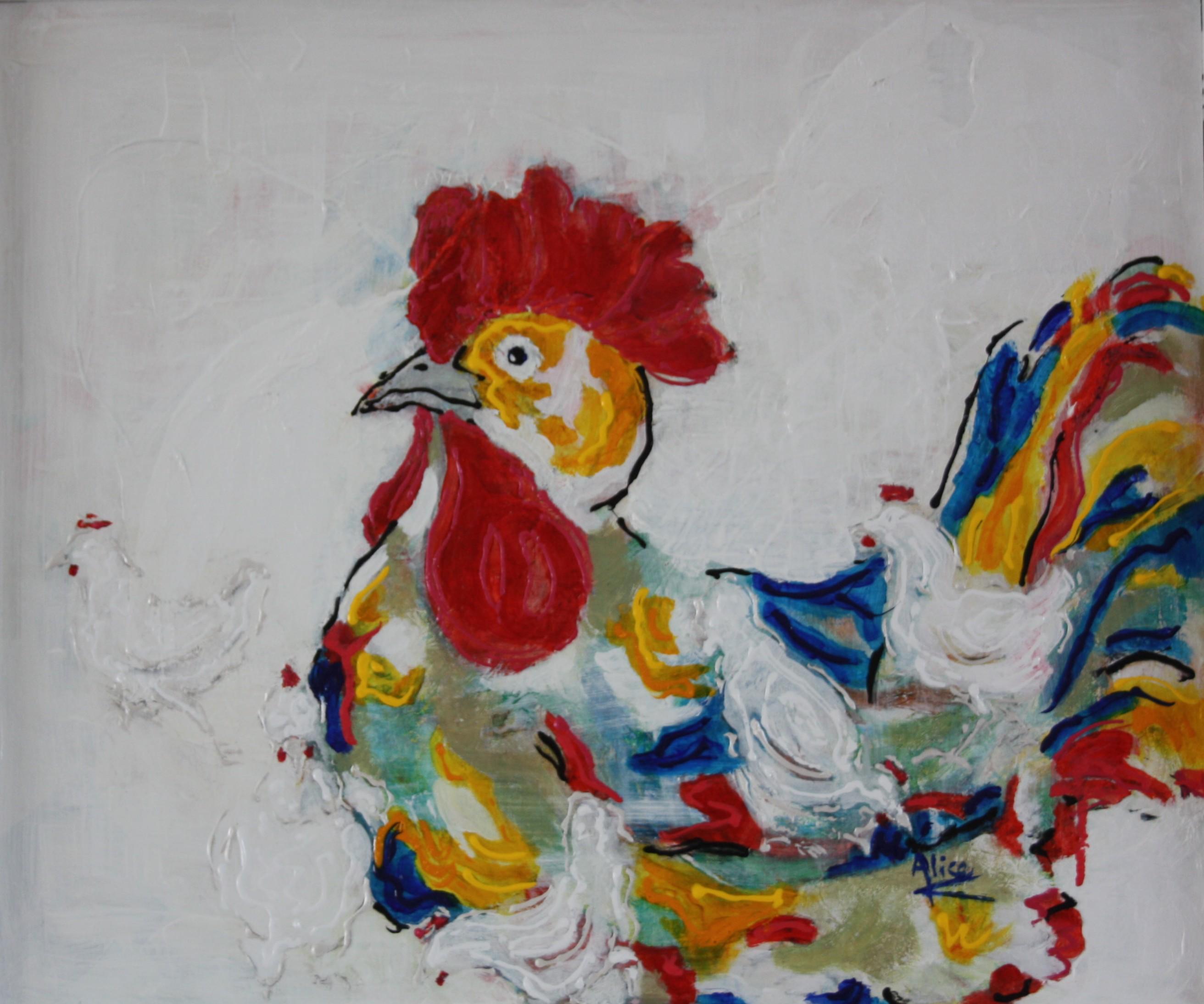 My rooster Mondriaan